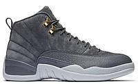 """Баскетбольные кроссовки Air Jordan 12 """"Grey/White"""" - """"Серые Белые""""  (Копия ААА+)"""