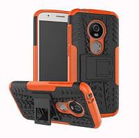 Чехол Motorola Moto E5 Plus / XT1924-1 противоударный бампер оранжевый