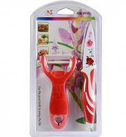 Набор антибактериальный (13,5х26 см, нож экономка, маленький нож и доска), арт.14-11