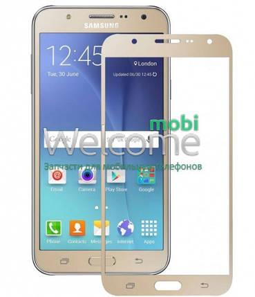 Защитное стекло Samsung J710 Galaxy J7 (2016) (0.3 мм, 2.5D, с олеофобным покрытием) gold Самсунг, фото 2