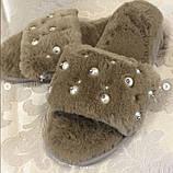 Домашние женски тапочки с камушками, фото 3