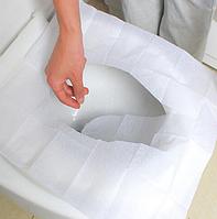 Гигиенические накладки на унитаз одноразовые 10 шт/упаковка, фото 1