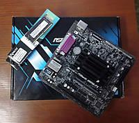 Новый комплект Материнская плата ASRock J4005B-ITX + Intel Celeron J4005 + ОЗУ 4GB DDR4