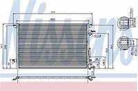 Радиатор кондиционера  Фиат, Опель, Сааб (пр-во NISSENS 94597)
