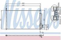 Радиатор кондиционера  Форд Фокус/ Фокус Clipper (пр-во NISSENS 94432)