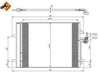 Радиатор кондиционера  Форд, LANDROVER, Вольво (пр-во NRF 35850)