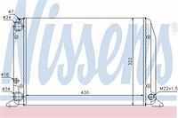 Радиатор охлаждения  Ауди 80 (пр-во NISSENS 604611)