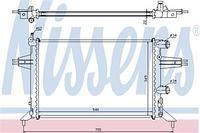 Радиатор охлаждения  Опель Астра G (пр-во NISSENS 63016)