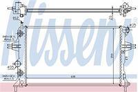 Радиатор охлаждения  Опель Астра G Delvan/ Астра G/ ZAFIRA A/ ZAFIRA B (пр-во NISSENS 632461)