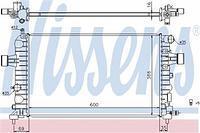 Радиатор охлаждения  Опель Астра A+/ Астра H/ Астра H Sport Hatch/ Астра H TwinTop (пр-во NISSENS 630744)