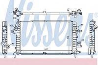 Радиатор охлаждения  Опель Астра A+/ Астра H/ Астра H Sport Hatch/ ZAFIRA B (пр-во NISSENS 63029A)