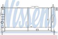 Радиатор охлаждения  Опель MONZA E/ Кадет E Комбо/ Кадет E (пр-во NISSENS 632731)