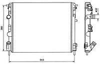 Радиатор охлаждения  Дачия, Ниссан, Рено (пр-во NRF 58148)