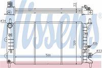 Радиатор охлаждения  Форд Эскорт 91/ Эскорт 95/ Эскорт/ Орион (пр-во NISSENS 621621)