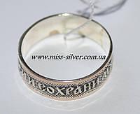 Кольцо спаси и сохрани серебро с золотом