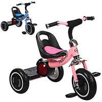 Трехколесный велосипед Turbotrike (M 3650-M-1) со свето-звуковыми эффектами (Розовый)