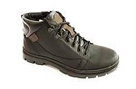 Кожаные мужские черные зимние ботинки Mida 14749