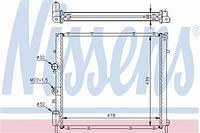 Радиатор охлаждения  Рено Кенго/ Кенго Rapid (пр-во NISSENS 63854A)