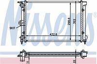 Радиатор охлаждения  Фольксваген CARAT/ DERBY/ Гольф/ Джета/ Поло/ Поло CLASSIC/ SANTANA (пр-во NISSENS 651631)