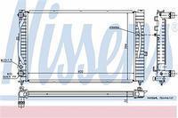 Радиатор охлаждения  Ауди, Шкода, Фольксваген (пр-во NISSENS 60299)