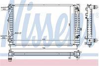 Радиатор охлаждения  Ауди, Фольксваген (пр-во NISSENS 60229)