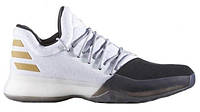 """Кроссовки Adidas Harden Vol.1 """"Black Toe/White"""" - """"Черные Белые""""  (Копия ААА+)"""