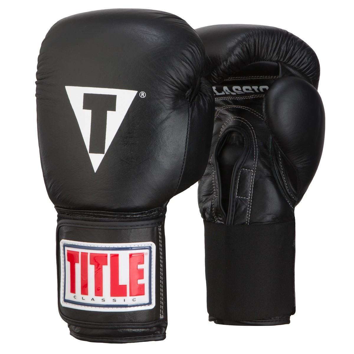 Перчатки черные 14ун TITLE Classic 2.0