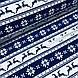Ткань хлопковая новогодняя, олени и снежинки на синей и белой полоске, фото 3