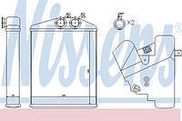 Радиатор печки (отопителя)  CADILLAC, Фиат, Опель, Сааб (пр-во NISSENS 73377)