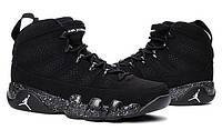 """Мужские Баскетбольные Кроссовки Air Jordan 9 Custom """"Black"""" - """"Черные""""  (Копия ААА+)"""