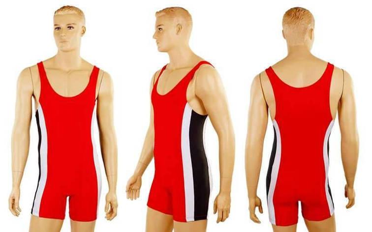 Трико для борьбы и тяжелой атлетики, пауэрлифтинга UR красный размер 44 RG-4262-R (OF), фото 2