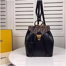 Рюкзак, портфель Фенді black and brown, натуральна шкіра