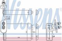 Радиатор печки (отопителя)  Ауди, Сиат, Шкода, Фольксваген (пр-во NISSENS 73921)