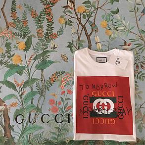 Gucci Tomorrow. Белая футба Gucci. Мужская футболка,  люксовая, фото 2