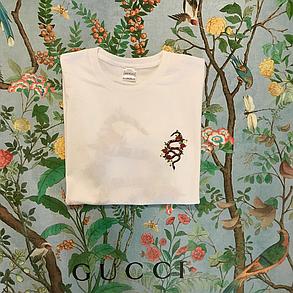Белая футба Gucci. Хайповая, мужская футболка с достойными бирками, фото 2
