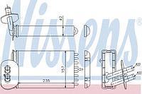 Радиатор печки (отопителя)  Фольксваген Транспортер / CARAVELLEV/ ТранспортерV (пр-во NISSENS 73977)