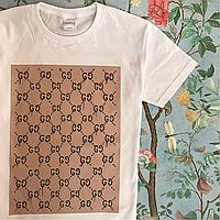 GUCCI. Белая, мужская и женская футболка Gucci. Хайповые бирки.