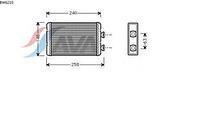 Радиатор печки (отопителя)  БМВ 3/ 3 Compact (пр-во AVA QUALITY COOLING BW6210)