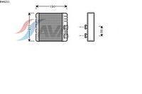 Радиатор печки (отопителя)  БМВ 3/ 3 Compact/ X3 (пр-во AVA QUALITY COOLING BW6211)