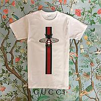 Хайповая футба Gucci. Женская и мужская футболка с хайповыми бирками.