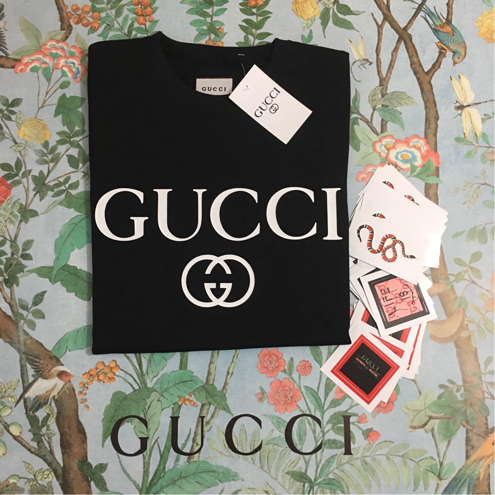 Gucci Logo футболка чёрная. Отличное качество
