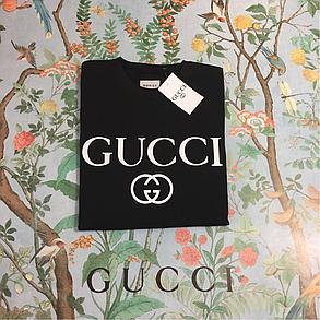 Gucci Logo футболка чёрная. Отличное качество, фото 2
