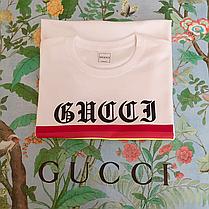 GUCCI. Мужская белая футболка. Оригинальные бирки., фото 2