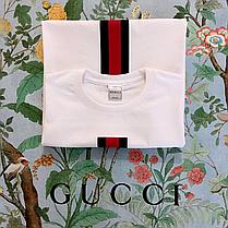 GUCCI. Достойная белая футболка. Годные бирки., фото 3