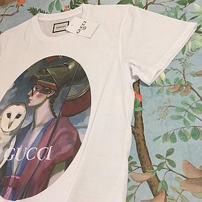 Белая футболка Gucci . Топовая бирка. Люкс , фото 2