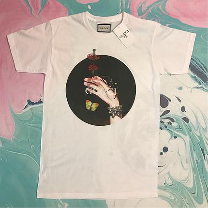 Белая футболка Gucci. Люкс . Бирка, фото 2
