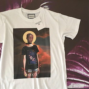 Gucci футболка белая. Бирка., фото 2
