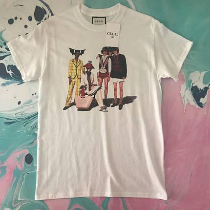 Белая футболка Gucci fashion boys. Бирка, фото 2