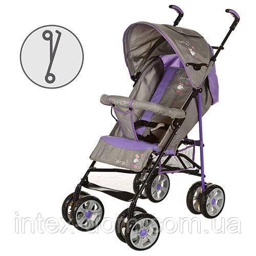Детская коляска-трость BAMBI (M 2108-1) с глубокой крышей (Фиолетовый)