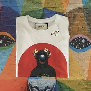 Белая футболка Gucci. Люкс , фото 2
